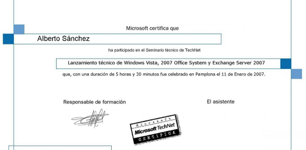 Seminario Windows Vista y Office 2007