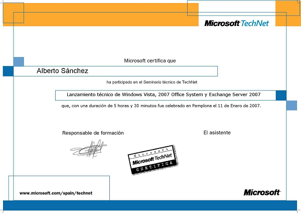 Seminario Windows Vista y Office 2007