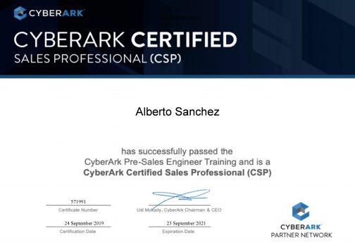 CyberArk Certified Sales Professional