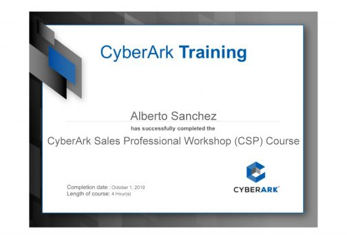 CyberArk Sales Professional Workshop (CSP) Course