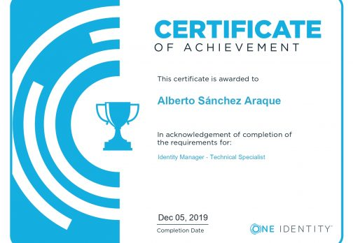 One Identity Manager Technical Specialist Certificate